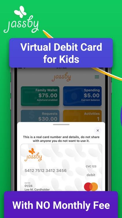 Jassby: Virtual Debit for Kids screenshot-0