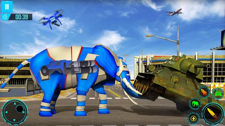 Elephant Robot Car Transform screenshot-3