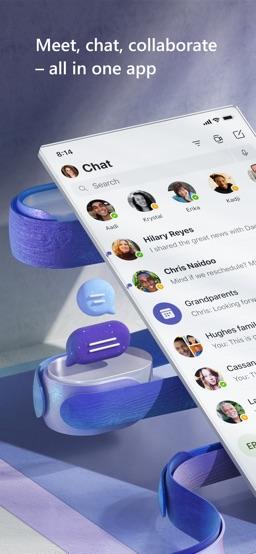 Microsoft Teams app screenshot