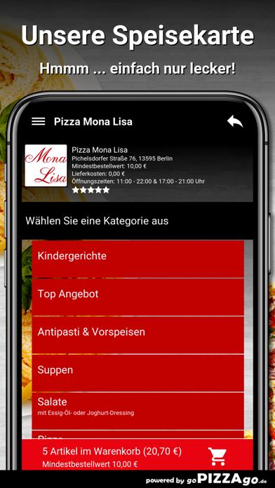 Pizza Mona Lisa Berlin screenshot 4