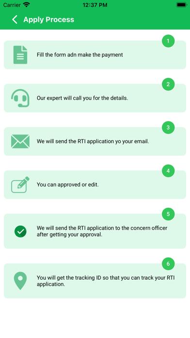 Online RTI Application screenshot 2
