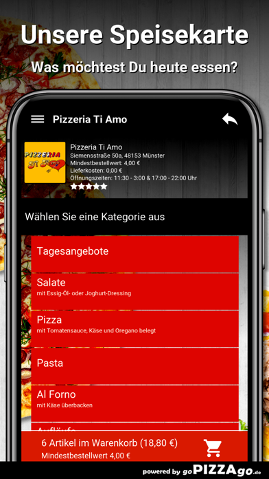Pizzeria Ti Amo Münster screenshot 4