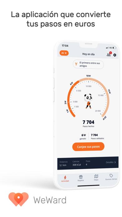 Descargar WeWard le motiva a caminar para Android