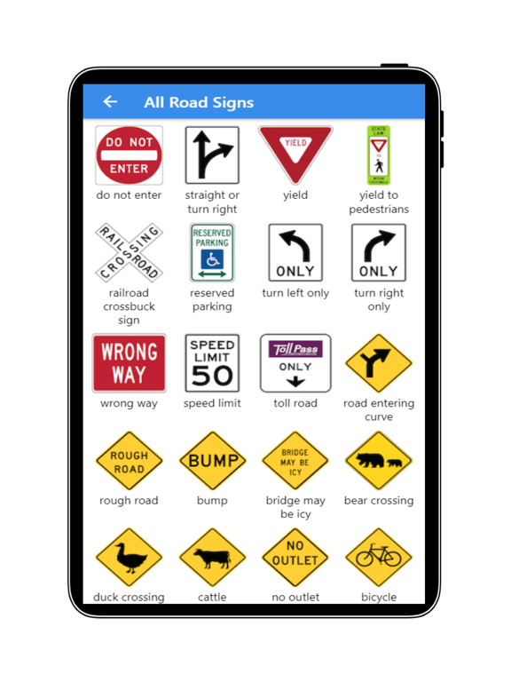 Practice Test USA & Road Signs screenshot 12