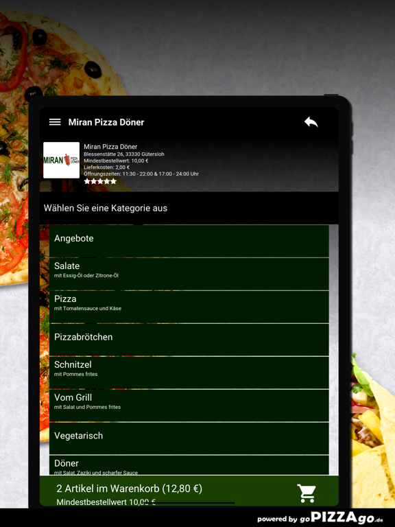 Miran Pizza Döner Gütersloh screenshot 8