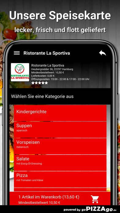 Ristorante La Sportiva Hamburg screenshot 4