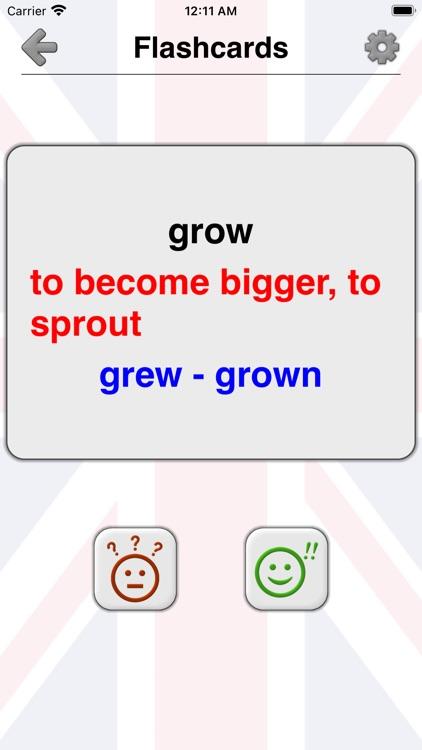 Irregular Verbs of English screenshot-3
