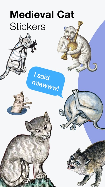 Medieval Cat Stickers