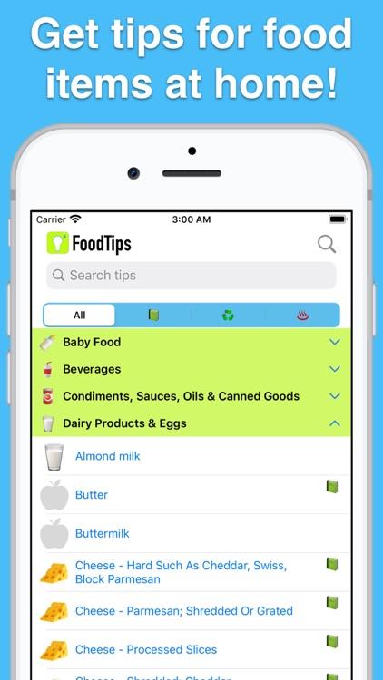 Food Tips - Storage & Cooking! screenshot-0