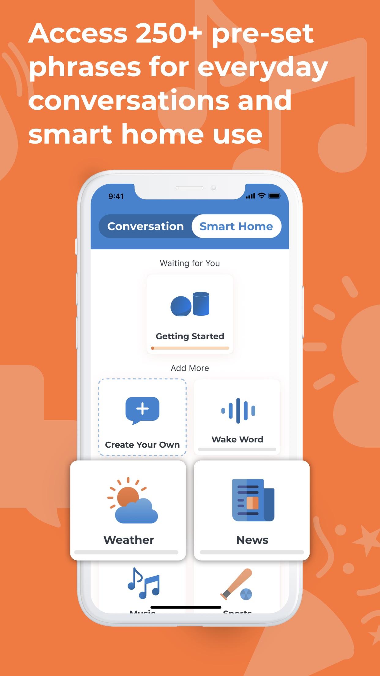 Screenshot do app Voiceitt