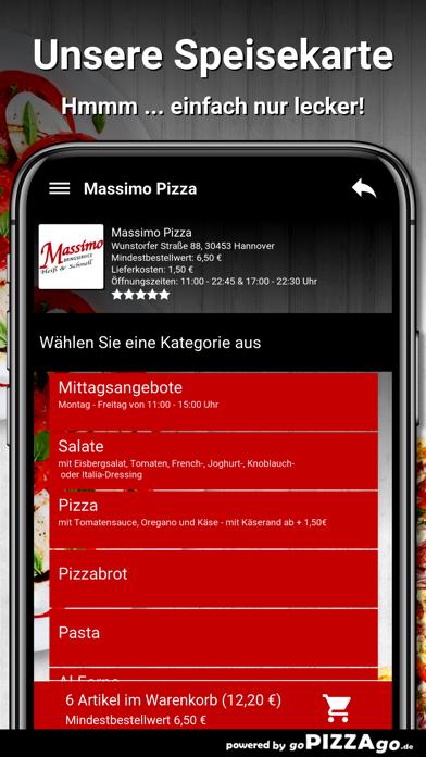Massimo Pizza Hannover screenshot 4