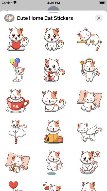 Cute Home Cat Stickers