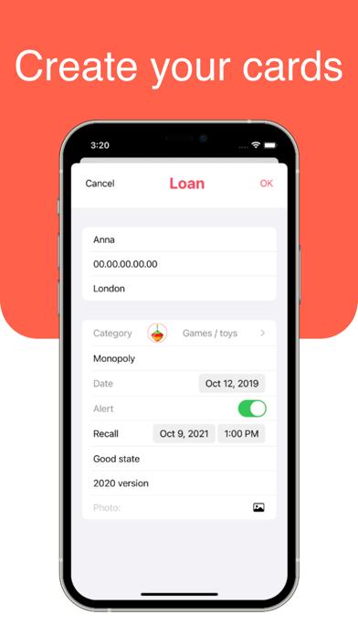 Screenshot of Lender App