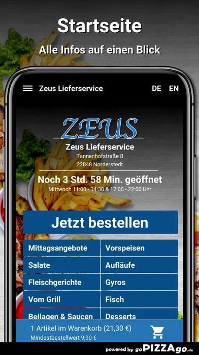 Zeus Lieferservice Norderstedt screenshot 2