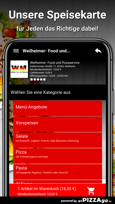 Weilheimer Pizza Weilheim screenshot 4