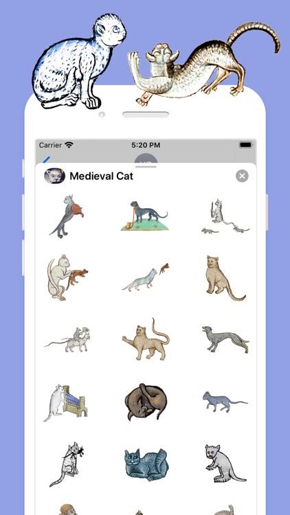 Medieval Cat Stickers screenshot-3