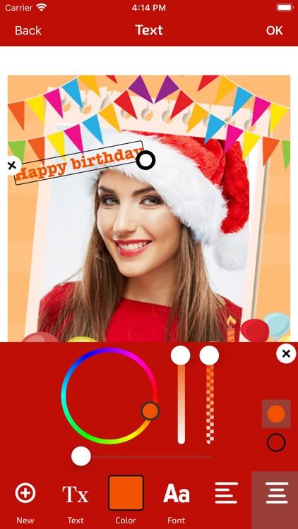 Birthday Photo Frame & Editor screenshot-6