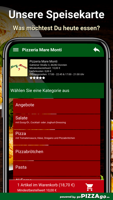 Pizzeria Mare Monti Dorsten screenshot 4