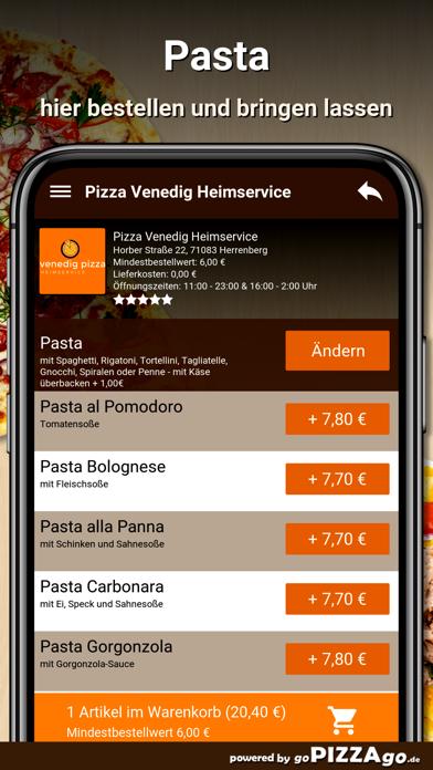 Pizza-Venedig Herrenberg screenshot 6