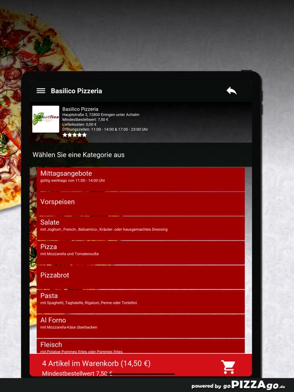 Basilico Pizzeria Eningen unte screenshot 8