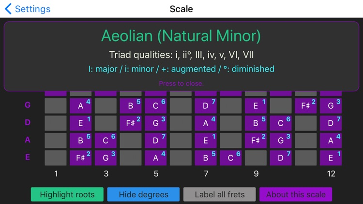 Guitar Scale Finder screenshot-3