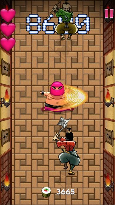 Screenshot from Fat Pink Ninja