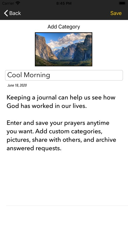 Prayer Journal App