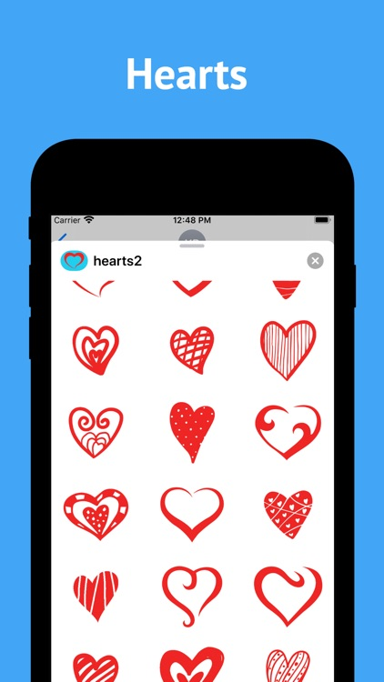 Love Hearts stickers for text screenshot-1