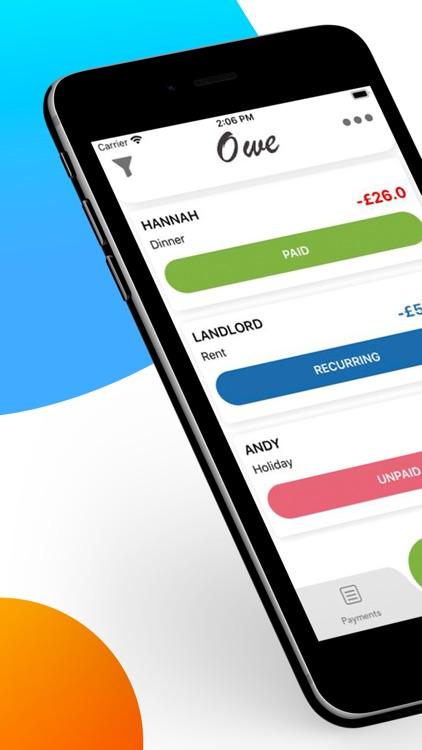 Owe: Debt Tracker & Planner screenshot-0