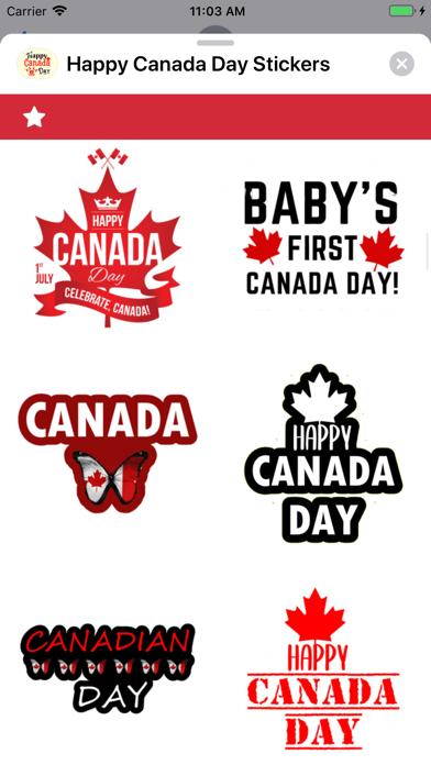 Happy Canada Day Stickers ! screenshot 6