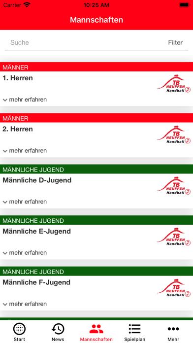 TB Neuffen - HandballScreenshot von 5