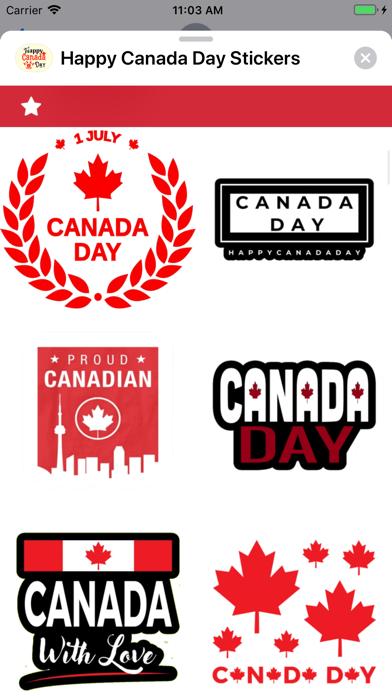 Happy Canada Day Stickers ! screenshot 4