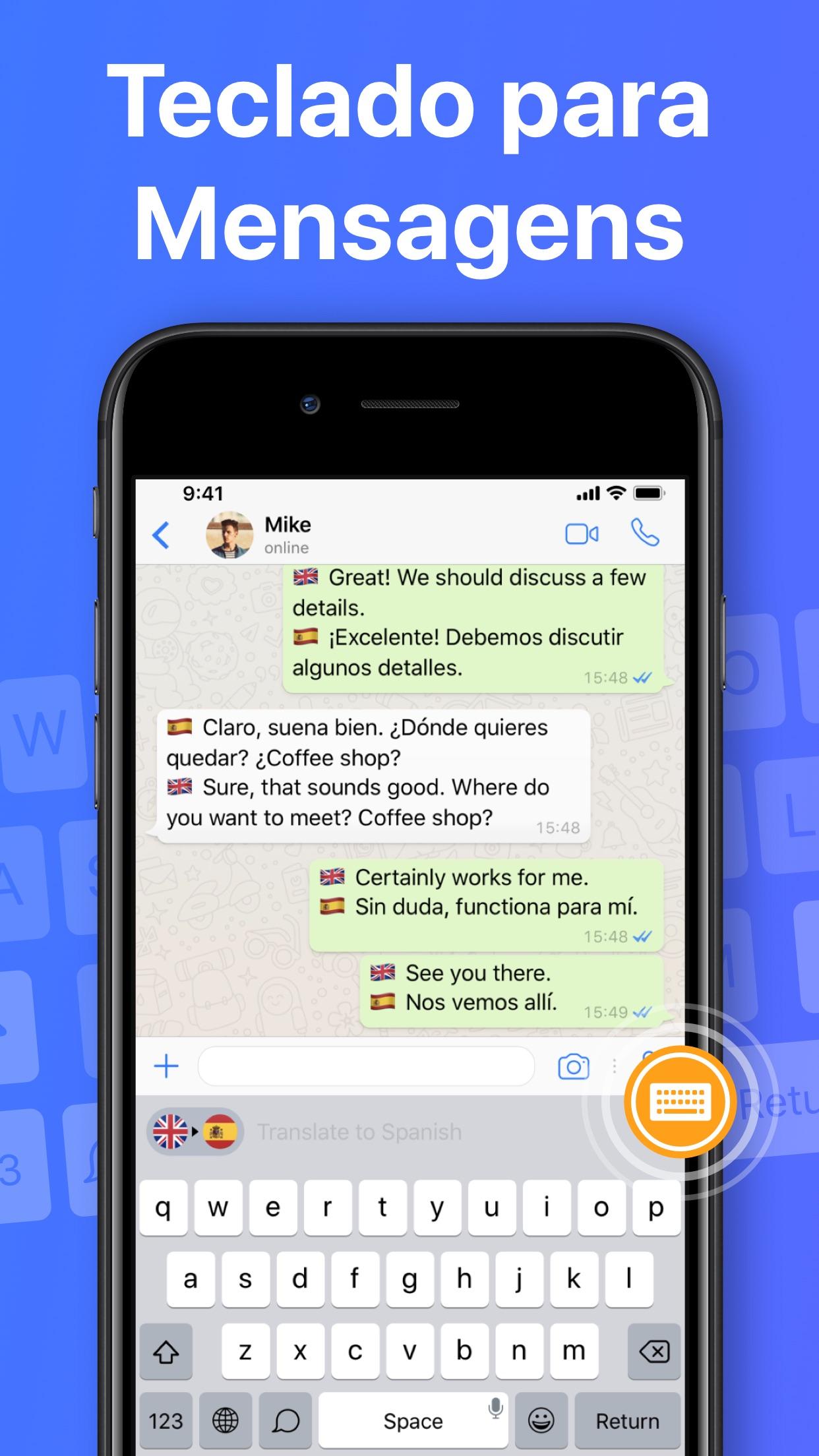 Screenshot do app Tradutor e Dicionário App