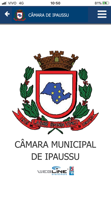 Câmara Municipal de Ipaussu screenshot 1