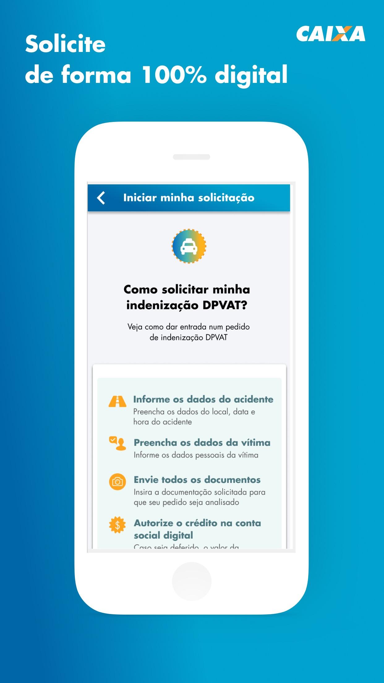Screenshot do app DPVAT