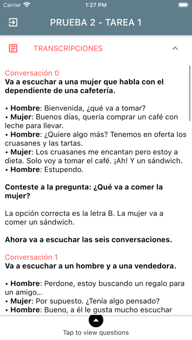 DELE A2 Spanish Screenshot