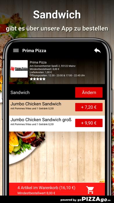 Prima Pizza Mainz screenshot 4