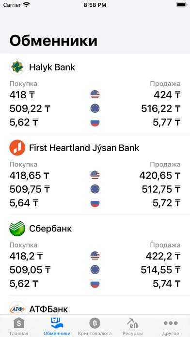Курсы валют КазахстанаСкриншоты 7