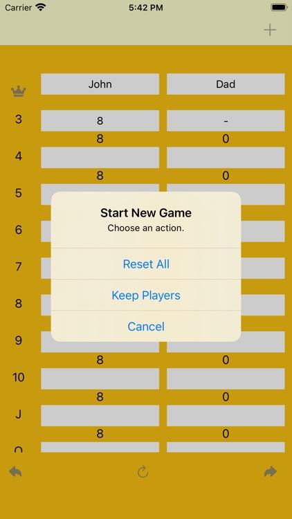 FiveCrowns Scorekeeping App