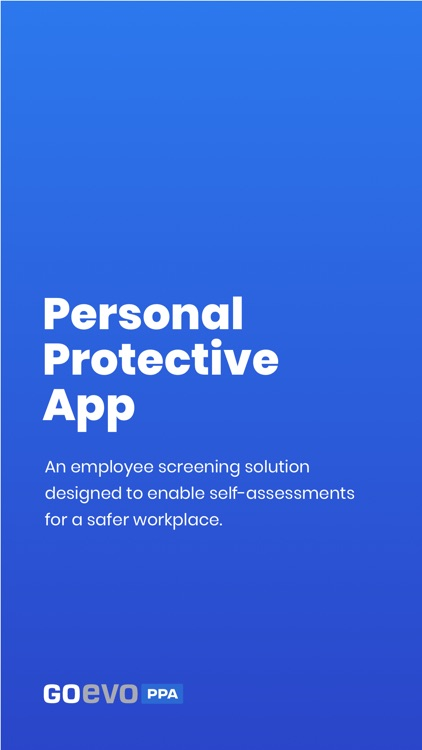 Personal Protective App - PPA