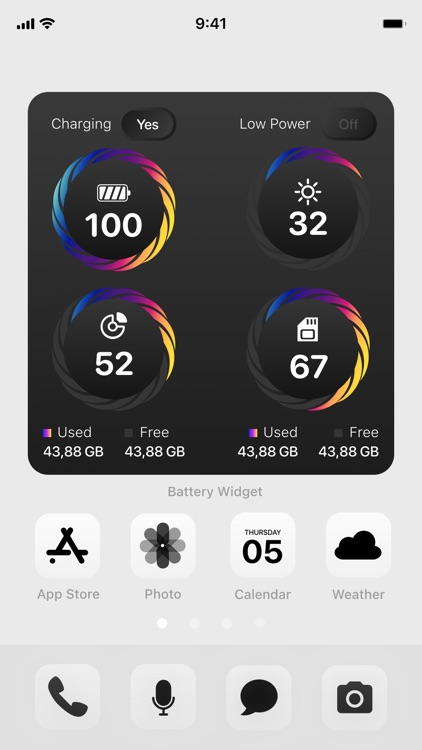 Battery Widget & Usage Monitor