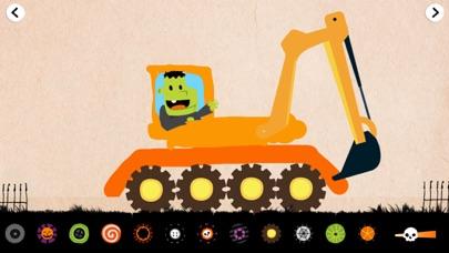 ハロウィーンの車の子供のゲーム(フル):モンスタートラック。のおすすめ画像1