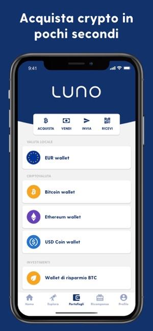 come scambiare bitcoin con luno