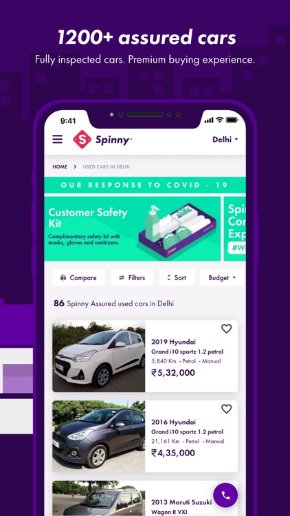 Spinny: Buy and Sell Used Cars