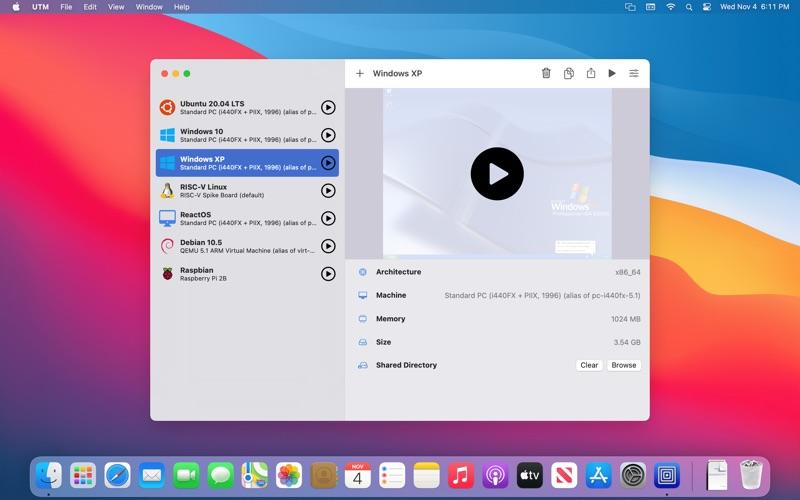 Скриншот №3 к UTM Virtual Machines для Mac