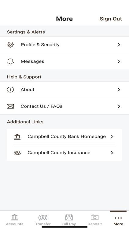 Campbell County Bank Mobile screenshot-4