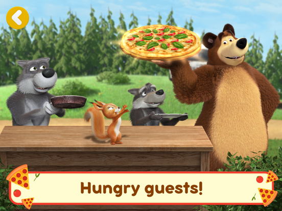 Ipad Screen Shot Masha and the Bear Pizzeria! 3