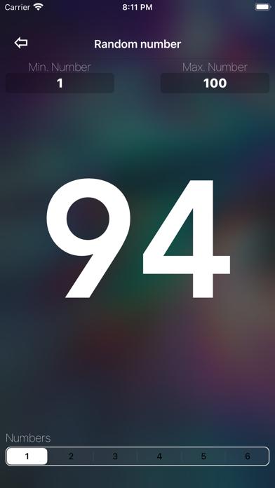 Скриншот №3 к Random Number Generator +