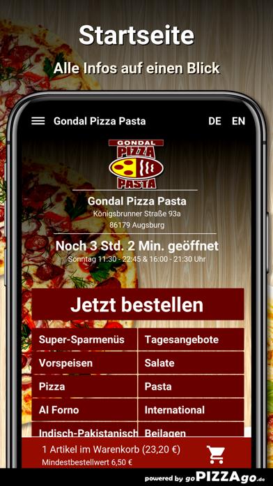 Gondal Pizza Pasta Augsburg screenshot 2