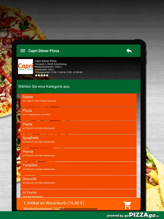 Capri Pizza Eckartsberga screenshot 8